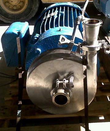 used Waukesha Cherry-Burrell model 2085 high efficiency 25 HP centrifugal pump. 2