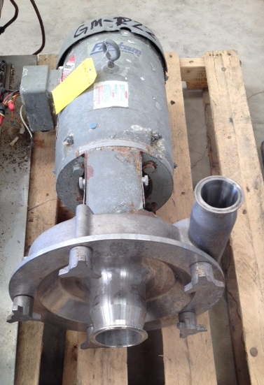 used Fristam model FRP3451 centrifugal pump. Rated approx. 225 GPM @ 50\' Hd. 3\