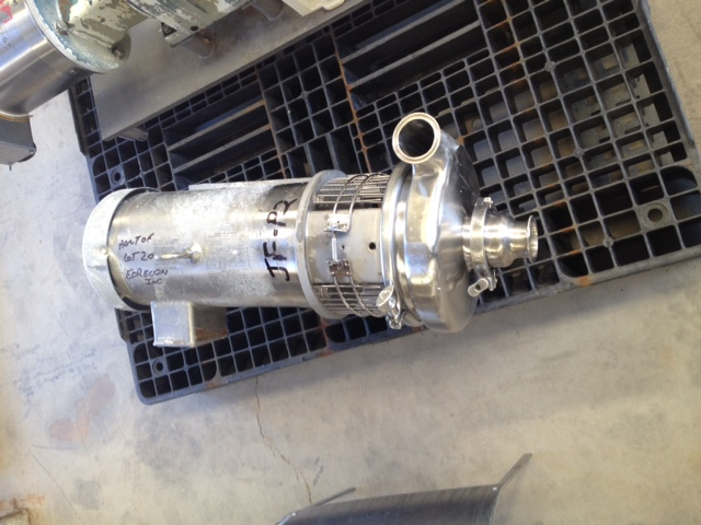 used Tri-Clover centrifugal pump. Size 2