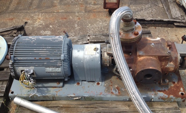 used NASH model SC2 vacuum pump.  Stainless steel mounted on base with 15 HP motor. sold as is.