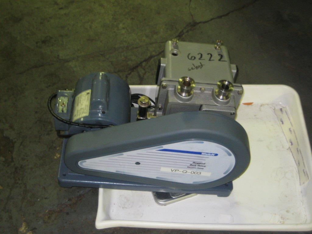 Used Welch Chemstar Vacuum Pump, Belt Driven. 1/2 HP, 115/230V, 1 Ph, 60 Hz Motor. 1