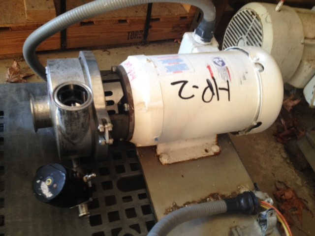***SOLD*** used Waukesha Cherry Burrell Sanitary centrifugal pump. 2