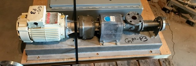 used MOYNO Progressive Cavity pump model B2A SSQ 3SAA. Driven by a 1.5 HP, 230/460 volt motor. 1.5