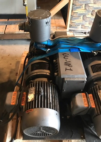 ***SOLD***used Busch Vacuum Pump model RC0250-C406-1001.  Rated 174 CFM.  S/N D7912. Driven by 10 HP, 230/460 volt. 1745 rpm motor.