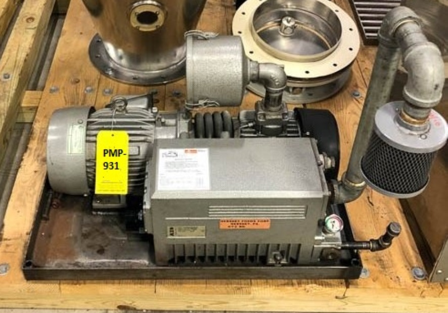 used Busch/AZO Vacuum Pump model RC0100.E5Z6.1004. Rated 63 CFM.  29.3