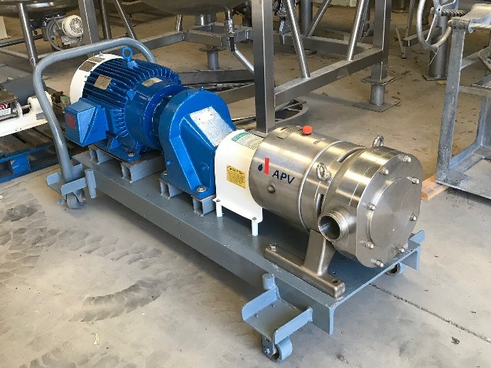 ***SOLD*** APV model DW5/142/15 Rotary Lobe Pump. 3