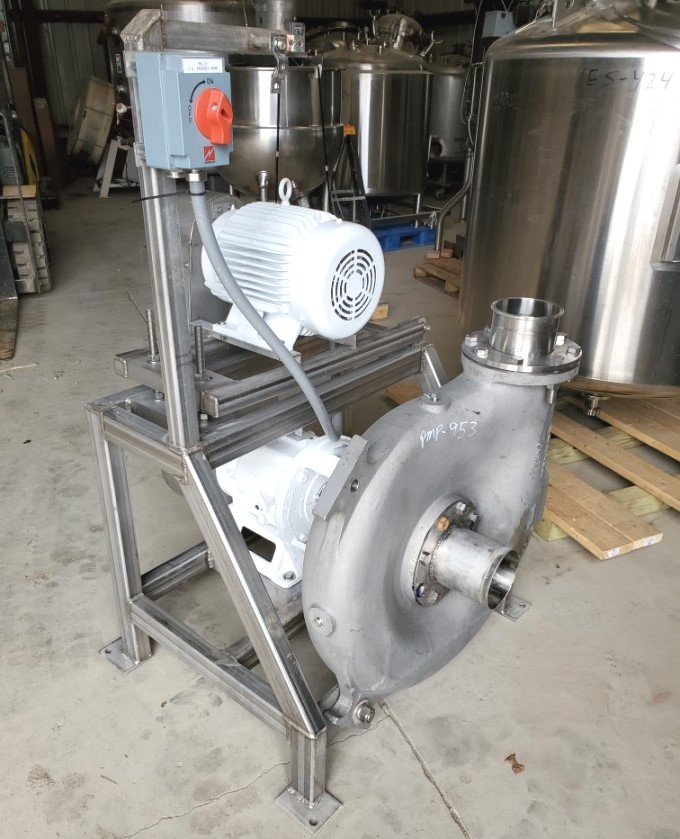 used Key/Cornell Hydro Transfer/Transport Stainless Steel pump. Model 6NHPP-F16K. 10 HP Motor,SS Frame. Last used in Food Plant.