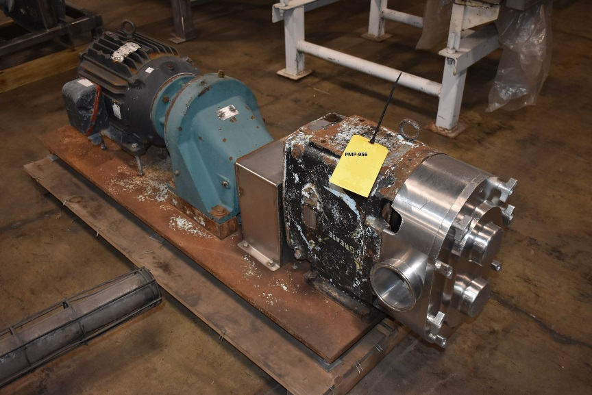 used Waukesha Cherry Burrell Model 220 Positive Displacement Pump. last used in sanitary food plant.