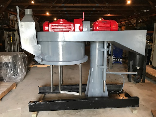 Used Double Planetary Mixer. Believed to be a ROSS 150 gallon. Unit comes with (11) 40