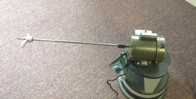 used Clamp-on Agitator. 1/2 HP, 1ph, 115 volt.  Motor built by FHP Ind. approx. 1/2