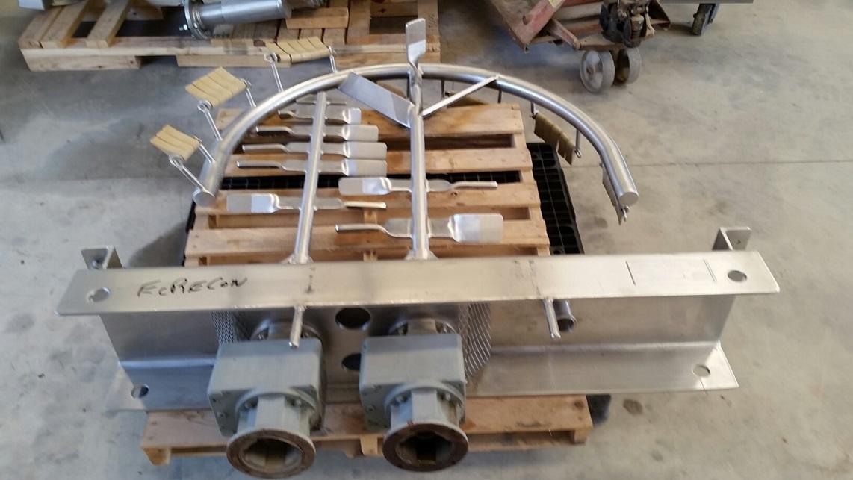 Item 2 Each Bridge Mounted Hamilton 2 Hp Sweep Mixer