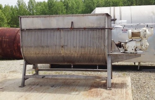 ***SOLD*** Used Groen/Dover 500 gallon Stainless Steel 100 Cu.Ft. Jacketed Ribbon Blender/Cooker. 48