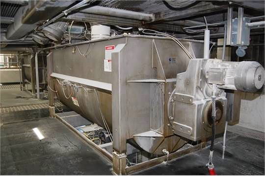 ***SOLD***270 Cu.Ft. Paddle Blender, Stainless Steel, built by American Process Systems Div of Eirich Machines Model #U270-5998, Equipment Type PB-270 Mixer, 12 ft. Length, SN 5998. 10