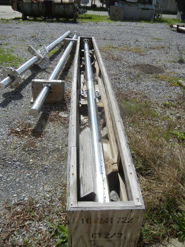 Qty (3): Stainless steel agitator shafts.  17'4
