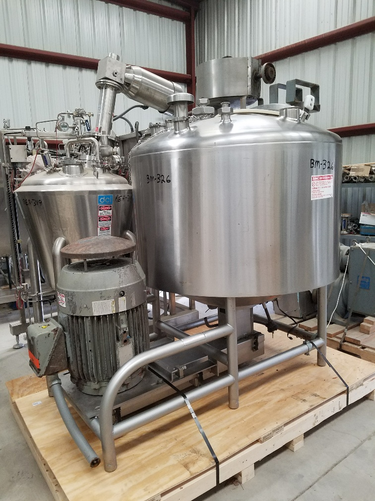 **SOLD*** used 200 Gallon BREDDO Model LORWW-200 Jacketed Likwifier/Liquifier. Jacket rated 125 PSI @ 400/-20 degF. Has 60 HP, 230/460 volt, 1770 rpm motor.  Last used in sanitary food Plant. NB# 349. Overall dimensions approx. 5'11