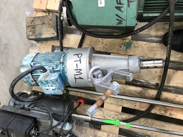 Used 2 HP Clamp-On Mixer. Has Lesson 2 HP, 230/460 1740 RPM/ 2 HP, 200/400, 1420 RPM motor.  Stainless Steel shaft ~3'6