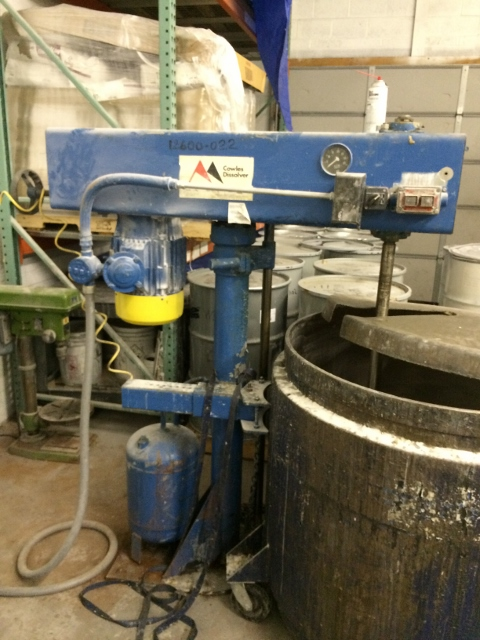 ***SOLD*** Used Cowles Disperser model N24X stainless steel post mixer/dissolver.  10 hp motor 3 phase 60 cycle 230/460 volt 1755 rpm.  Stainless steel shaft 46