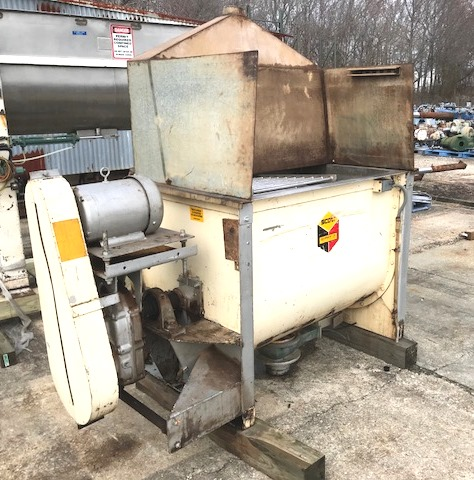 used 20 Cu.Ft. SCOTT Ribbon Blender.  Stainless steel construction. Trough is 30
