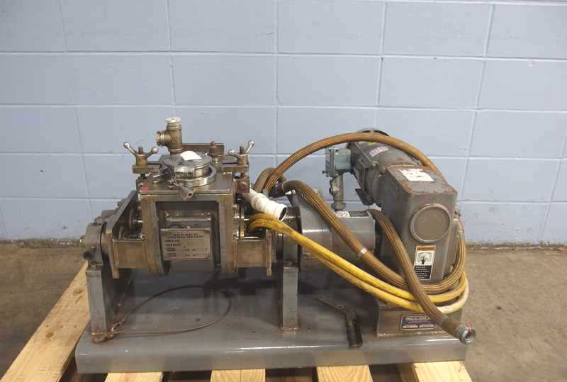 Paul Abbe Jacketed Double Arm/Sigma Blade Mixer. Model SBM1. Stainless steel construction. Rated Full Vacuum internal and jacket rated 14.7 PSI @ 250 Deg.F. Last used in sanitary pharmaceutical application.