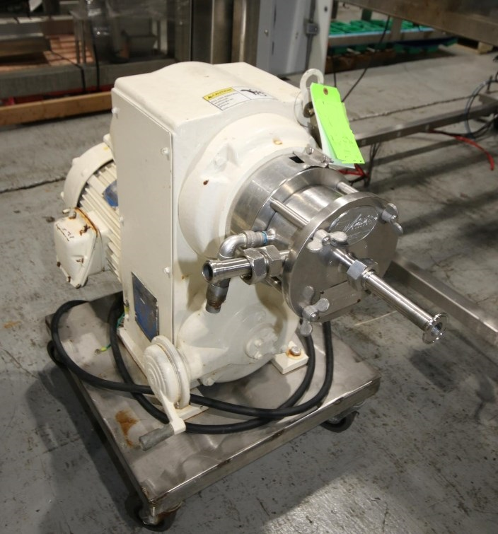 used Votator Horizontal Mixer, Whipper-Emulsifier. Model CR6. Has 5 HP Motor, 220/460 Volts, with S/S Square D Safety Switch. S/N 72 026V. Design Operating Product Pressure 250 PSI @ 100 Deg.F.  Last used in sanitary food plant. Mounted on Portable S/S Frame