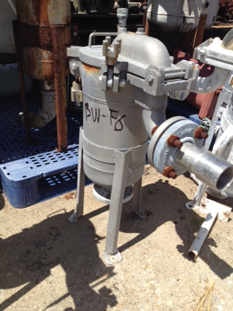Used Basket/Bag Filter. Built by Filtration Systems (Mechanical Mfg.). 8