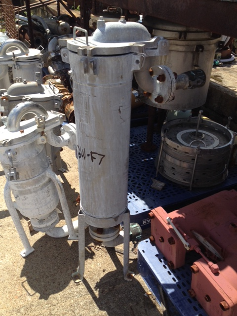 Used Filtration Systems Basket Filter/Bag filter. Stainless Steel Mechanical Mfg. size 2 (8