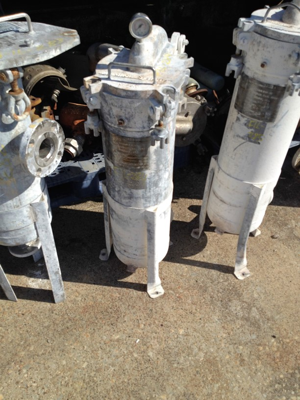 ***SOLD*** used Filtration Systems Basket/Bag Filter. Stainless Steel approx. 8