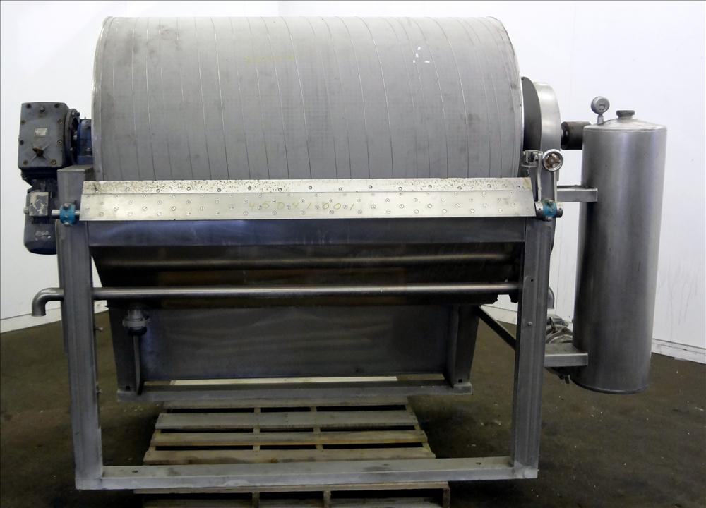 used Larsson Rotary Vacuum Drum Filter, Approx. 69 Sq.Ft. Filter Area, 316 Stainless Steel. (1) Approximate 37
