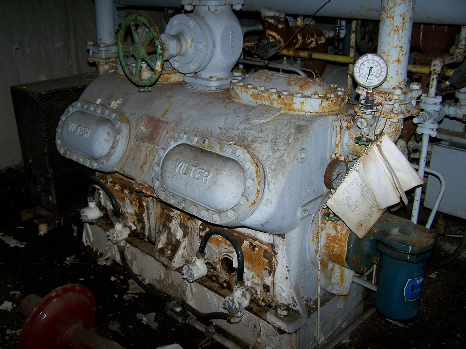 LIQUIDATION* (4) used Ammonia Compressors, Vilter Manufacturing, Size 4412-84, 100 HP, with after coolers piping and controls.