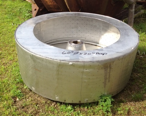 Used Stainless Steel Centrifuge basket. 60
