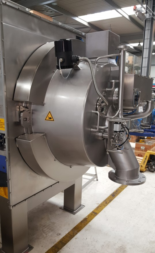 UNUSED Heinkel Model HF800P Horizontal Peeler Centrifuge. Hastelloy C-22. Bowl Diameter 800mm.  Basket height 400mm. Filter are 1m2. Nominal volume 84 liter. load max 105 kg. 1800 rpm min.  Included Allen Bradley Controls.