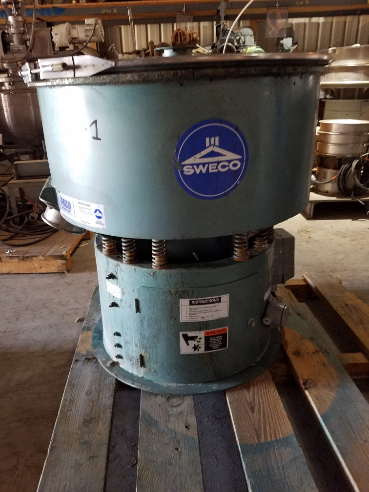 used Sweco Grinding Mill, Model DM04L USED. Driven by 2.5 HP, 460 volt motor.  6