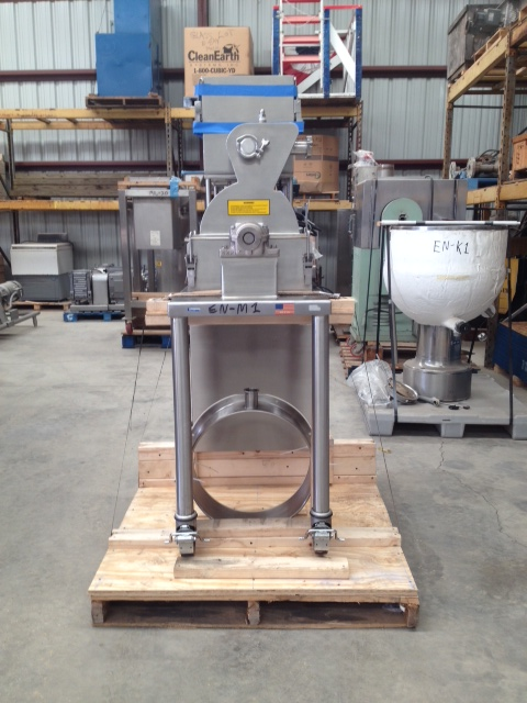 Used Fluid Air Impact/Screening/Hammer Mill, Model 003, Stainless Steel. Stainless steel fixed rotor with bars, 4\