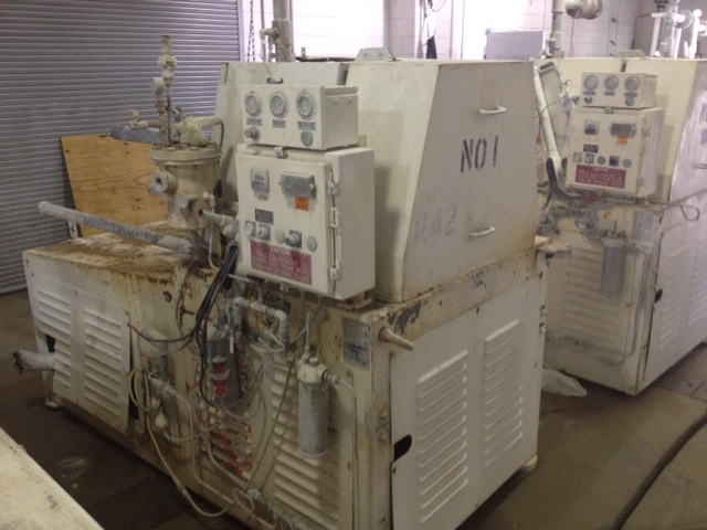 used Premier Media Mill model HM230C.  Driven by 125 HP, 3/60/460 volt motor.