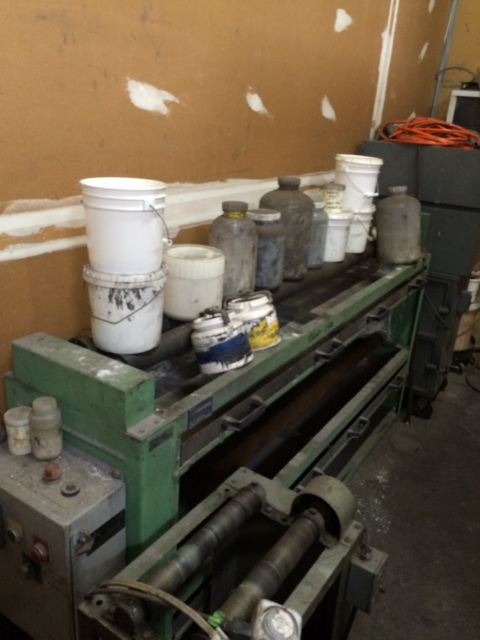 Used US Stoneware roller jar mill.  2 level mill. Rollers are approximatley 66