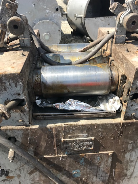 Used Ross 3 roll mill, chrome plated rolls 4