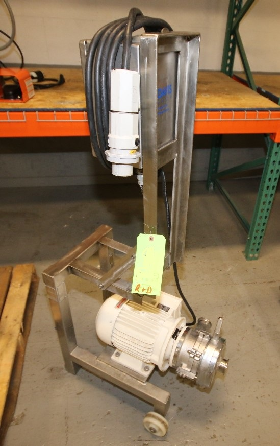 ***SOLD*** used Fryma model MZ-110 Colloid Mill. S/N M14753. Has 5.5 kw, 270/460 volt motor.  Unit mounted on portable cart with AB Starter. Last used in sanitary food application.