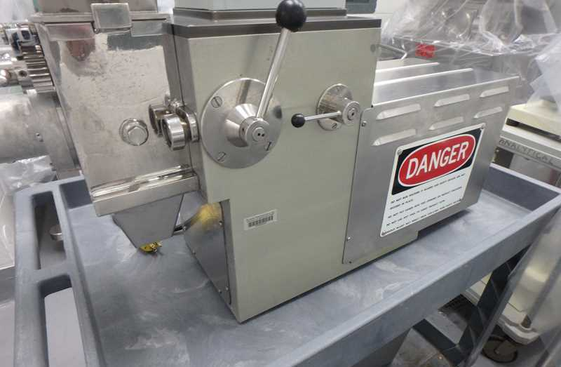 used Frewitt model GLA ORV Oscillating Granulator. Stainless Steel sanitary construction. 115 Volt. Includes box of screens.