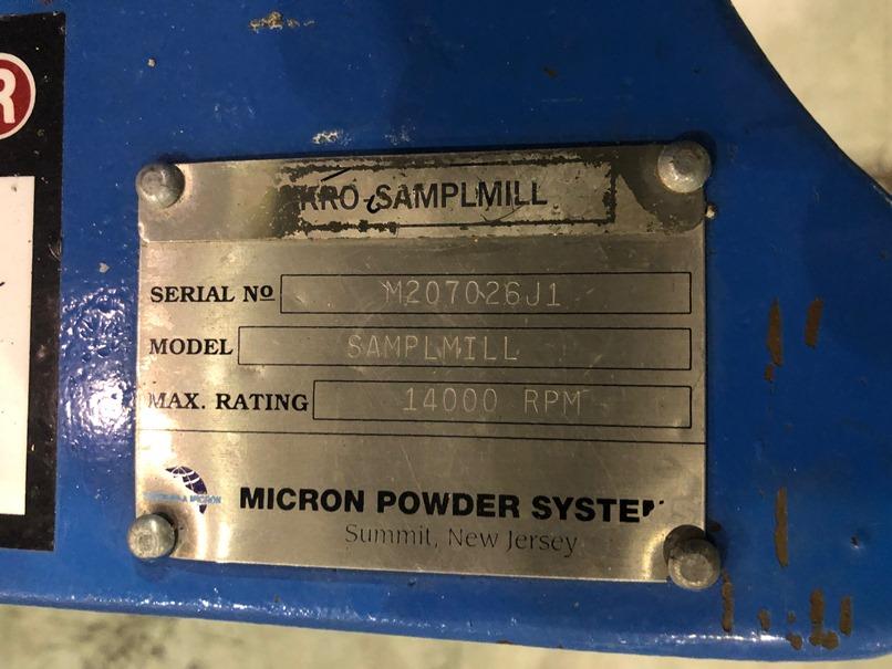 Micron Powder Systems Bantam Samplmill for sale - EcReCoN