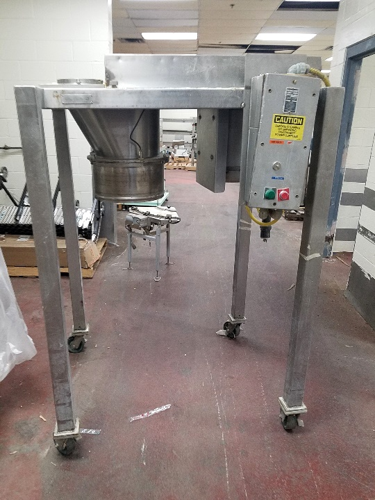 used Quadro Comil Model 196S Cone Mill. Stainless Steel.  Has 10 HP, 208-230/460 volt, 1725 RPM motor. S/N 196-0489. Last used in a food plant in sanitary application.