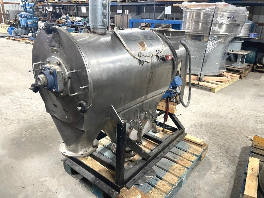used KEK model A800 Stainless Steel Rotary Sifter.  6.2 Sq.Ft. Screen area. Driven by 7.5 HP, 208-230/460 volt, 3615 rpm motor. Last used in a food plant.