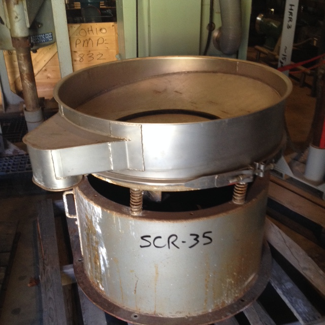 used Eriez screener. Model MS361X. Style 44182. S/N JJ5/1128. Has a stainless bottom deck only.