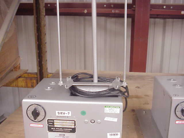 Used Tyler model RX-24, Laboratory sieve/screener shaker. Unit has timer. Takes 8
