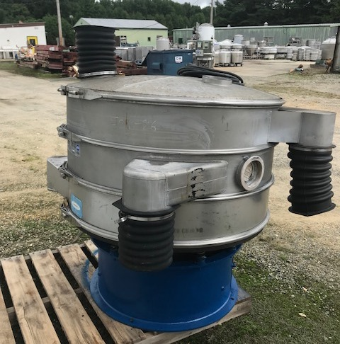 ***SOLD*** used Sweco 48 inch Stainless Steel Screener. (2) Decks. Model US48S88. S/N US48-680-8. 2.5 HP, 1200 rpm, 3 phase motor.