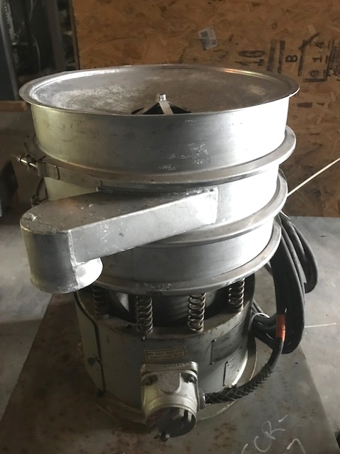 used Sweco 18 inch Stainless Steel Screener. (2) Decks with screen cleaning kit. Model LS18S3333. S/N LS18-382. 1/4 HP, 1200 rpm, 3 phase motor.
