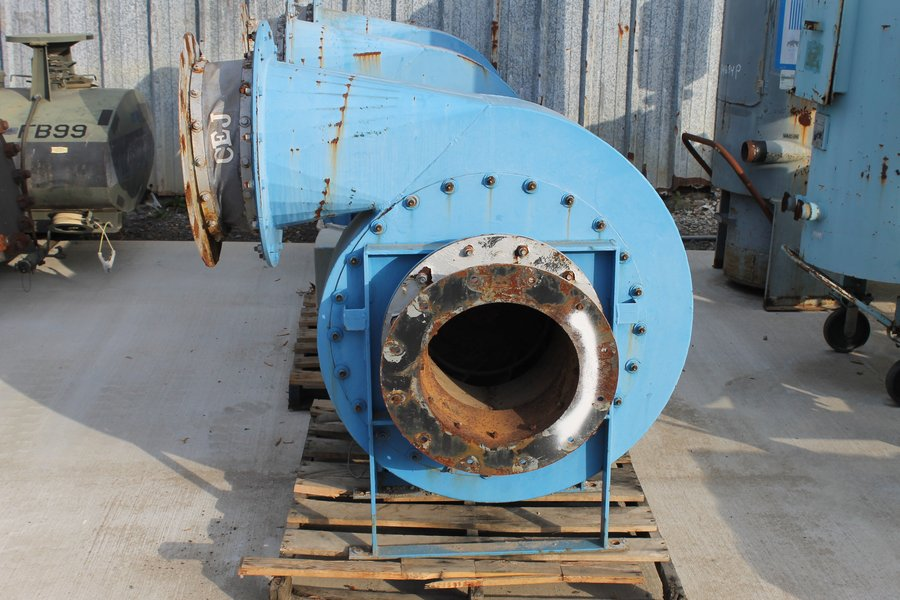 used Twin City Fan & Blower, Blower, Size 14x10, Type TBA-P, Class HP, CS Material, Siemens Motor Type RGZPSD Frame 364TS, HP 60, Phase 3, Amps 13/67.9, Volts 230/460, Hertz 60