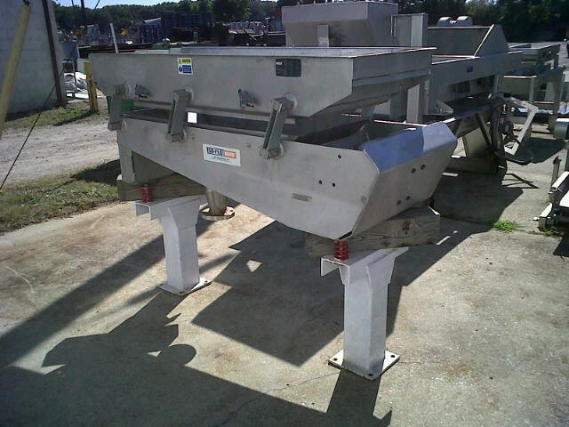 Used KEY ISO FLO Vibrating Dewatering Screener/Feeder.  Model 433461-1, s/n 05-127033.  2' W x ~81