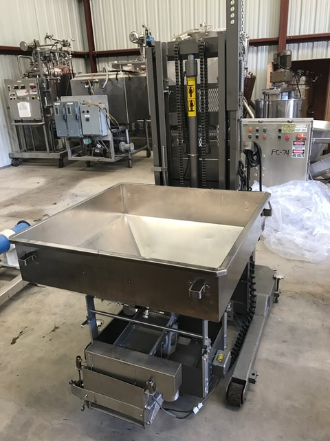 ***SOLD*** (2) used DT Lakso Model 73 tablet Hoist/Feeder. The Lakso Hoist lifts, cleans and feeds large volumes of tablets and capsules automatically, for high speed filling applications.