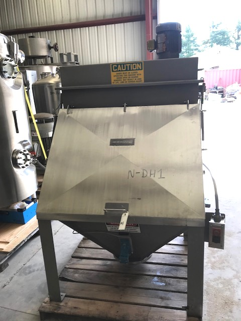 ***sold*** used Bag Dump Station built by American Process Systems.  Stainless Steel construction. Model FBD. Dump area approx. 42