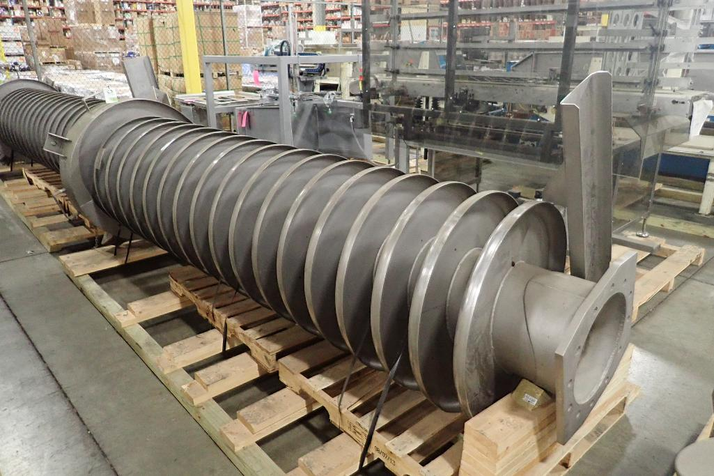 ***SOLD*** (2) used Key Vibrating Spiral Elevator/Conveyor.  Approx. 3' Dia. X 12' ht.. Model 434938-1. There are (17) tracks 9.5